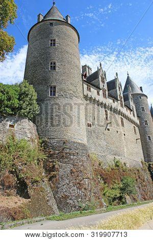 Exterior Walls Of Josselin Castle In France