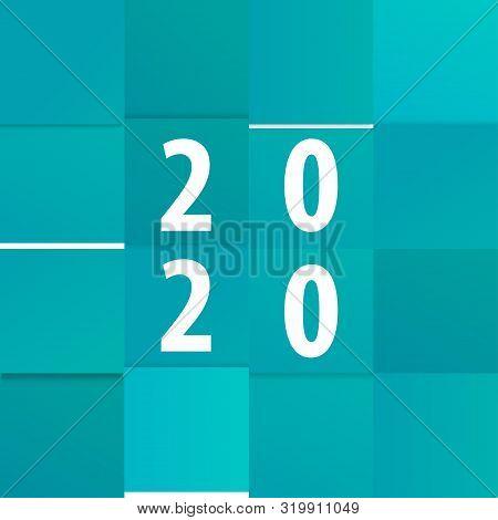 Modern Calendar Template Office Paper Cut Design. Soft Shadow Monthly For Web Banner.
