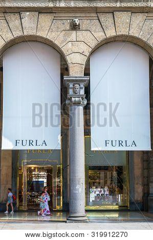 Milan, Italy - June 29, 2019: Luxury Store In Milan, Located On Fashion District (quadrilatero Della