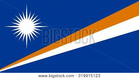 Flag Of The Marshall Islands Vector Illustration, Worlds Flags Collection