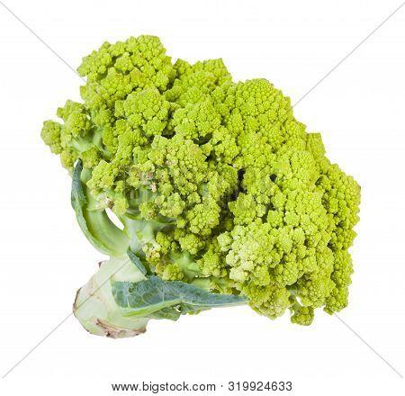 Fresh Romanesco Broccoli Isolated On White Background