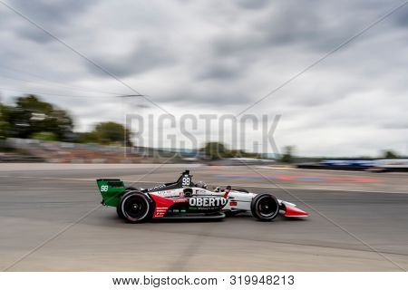 August 30, 2019 - Portland, Oregon, USA: MARCO Andretti (98) of the United States  practices for the Grand Prix of Portland at Portland International Raceway in Portland, Oregon.