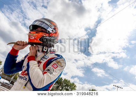 August 30, 2019 - Portland, Oregon, USA: MATHEUS LEIST (4) of Novo, Hamburgo Brazil  practices for the Grand Prix of Portland at Portland International Raceway in Portland, Oregon.