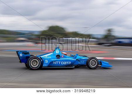 August 30, 2019 - Portland, Oregon, USA: FELIX ROSENQVIST (10) of Värnamo, Sweden  practices for the Grand Prix of Portland at Portland International Raceway in Portland, Oregon.
