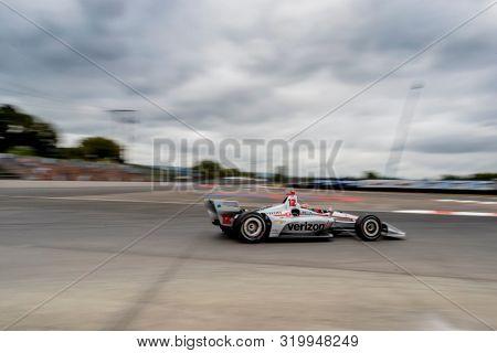 August 30, 2019 - Portland, Oregon, USA: WILL POWER (12) of Toowoomba, Australia  practices for the Grand Prix of Portland at Portland International Raceway in Portland, Oregon.