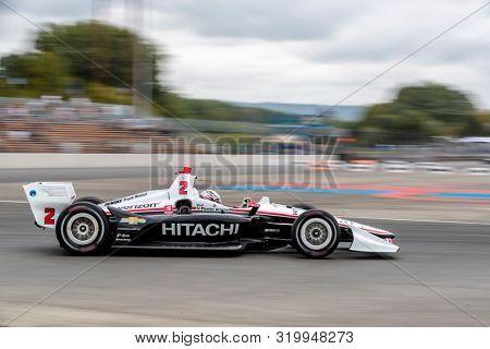 August 30, 2019 - Portland, Oregon, USA: JOSEF NEWGARDEN (2) of the United States  practices for the Grand Prix of Portland at Portland International Raceway in Portland, Oregon.