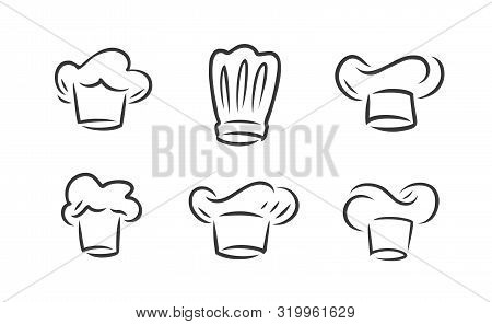 Cook Hat Logo. Cookery, Restaurant Symbol. Vector Illustration