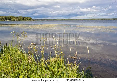 View Of Lake Shartash In Yekaterinburg On A Cloudy Summer Day, Russia
