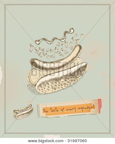 hot dog layers
