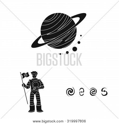 Vector Design Of Colonization And Sky Logo. Collection Of Colonization And Galaxy Vector Icon For St