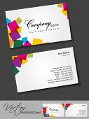 Abstract colorful bright color professional and designer business cards template or visiting card set. EPS 10. Vector illustration. poster