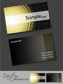 Professional business card set, template or visiting card. Artistic, abstract corporate look in dark and bright colors, EPS 10 Vector illustration. poster