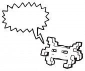 cartoon arcade game character poster