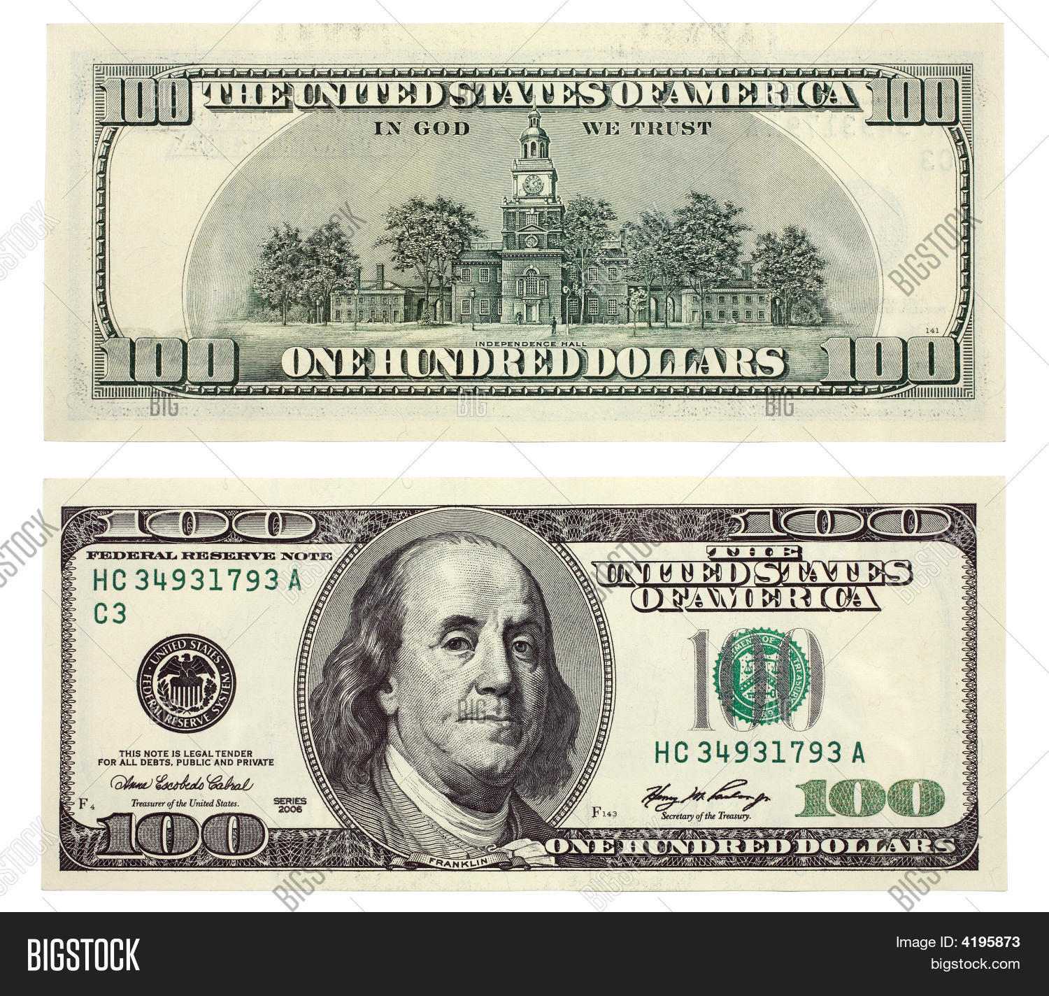100 dollar bill drop card template - hundred dollar bill image photo free trial bigstock