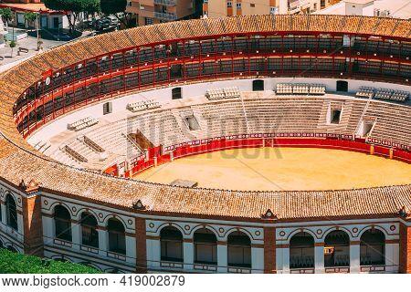 Malaga, Spain. Plaza De Toros De Ronda - Bullring. La Malagueta Is The Bullring. Close Up.