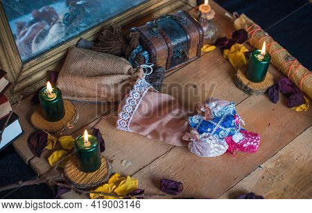 Old World, Magic Attributes For Rituals And Fate Prediction, Details On A Table Of Witch, Occultism