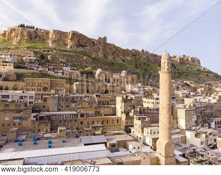 Mardin City In Turkey. Mardin Old Town. Mardin Is A Historical City In Southeastern Anatolia, Turkey