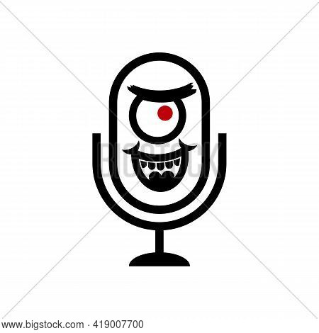 Podcast Plankton Logo, Simple Design And Easy To Remember. Suitable For Cafes, Bars, Music Studios A