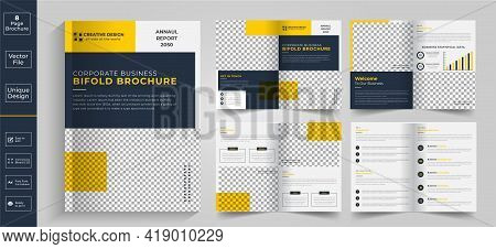 Corporate Theme 8 Pages Business Company Profile Brochure Design,8 Pages Creative Business Brochure