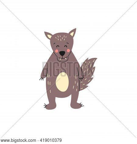 Wolf. Vector Logo. Wildlife Wild Wolf Vector Illustration