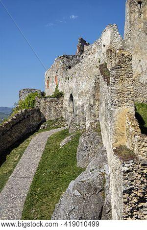 Beckov Castle Ruins, Slovak Republic, Europe. Travel Destination.