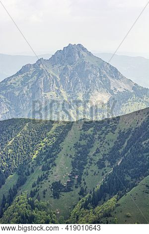 Big Rozsutec Peak, Little Fatra, Slovak Republic. Hiking Theme. Seasonal Natural Scene.
