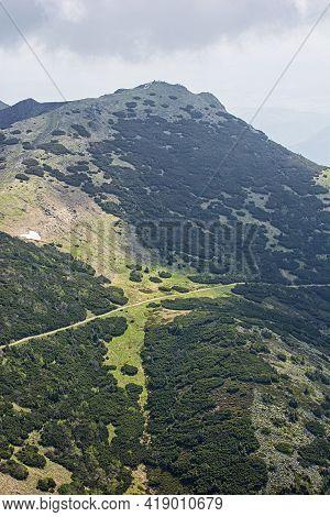 Chleb Hill, Little Fatra, Slovak Republic. Hiking Theme. Seasonal Natural Scene.