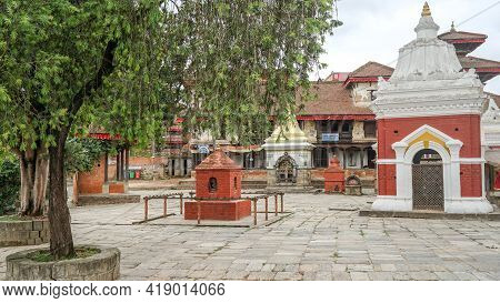 Indreshwor Mahadev Temple At Panauti Durbar Square In Nepal, Unesco Tentative Site. The Holy And Sac