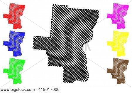 Gallia County, Ohio State (u.s. County, United States Of America, Usa, U.s., Us) Map Vector Illustra