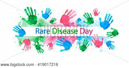 Rare Disease Day Poster Or Banner. Vector Illustration