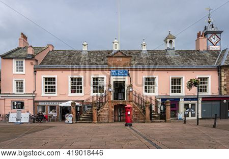 Carlisle, Cumbria, Uk, August 2020 - Facade Of The Tourist Information Building In The City Of Carli
