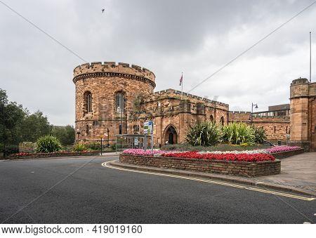 Carlisle, Cumbria, Uk, August 2020 - Carlisle Citadel, Old Courthouse, Carlisle, Cumbria, Uk