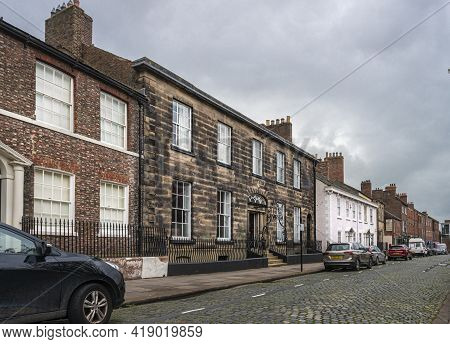 Carlisle, Cumbria, Uk, August 2020 - Ancient Architecture In The City Of Carlisle, Cumbria, Uk