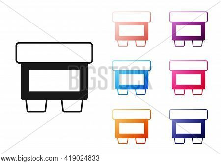 Black Fuse Of Electrical Protection Component Icon Isolated On White Background. Melting Breaking Pr