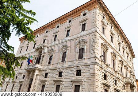 Perugia,italy May 01 2021:palazzo Cesaroni In Square Italia In The Center Of Perugia
