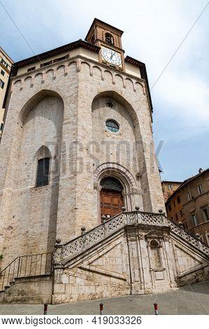 Perugia,italy May 01 2021:church Of Sant Ercolano In Purugia