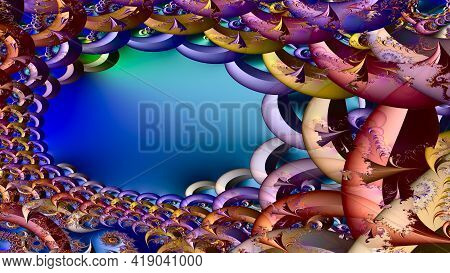 The Colors In The Series, Awesome Digital Art Paint. Background Consists Of Fractal Color Texture An