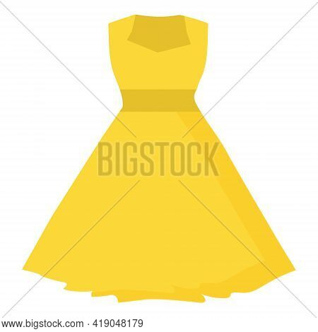 Yellow Dress Summer Clothing For Use In Web Design Or Print