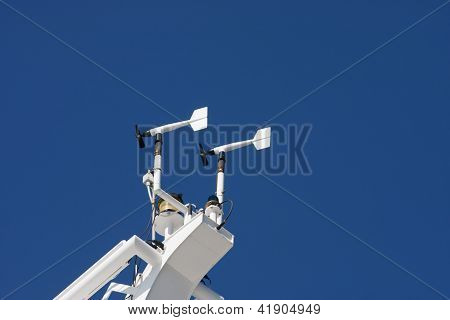 Anemometers On Cruise Ship