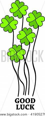 GOOD LUCK Four Leaf Clover Bouquet