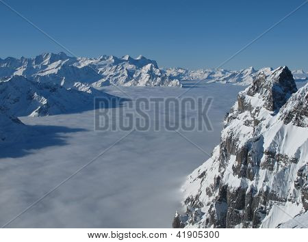 View Towards Eiger Monch And Jungfrau, Titlis