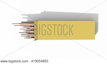 Welding Electrodes Pack. Isolated Concept Industrial 3d Rendering