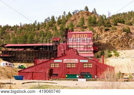 April 26, 2021 In Idaho Springs, Co:  Argo Mining Mill Taken In Idaho Springs, Co Where Tourists Can