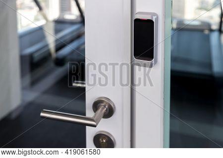 Smart Card Door Key Lock System In Hotel. Technology Hotel Electronic Lock Door.