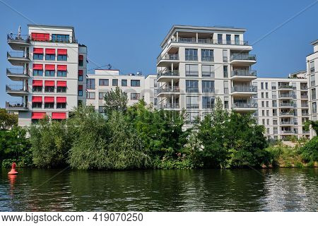 New Housing Project At The River Spree In Berlin, Germany