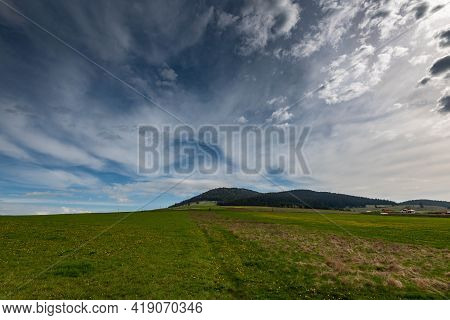 Mount Csiksomlyo In Hungarian, Sumuleu Ciuc In Romanian, At Early Spring, One Of The Most Visited Pl