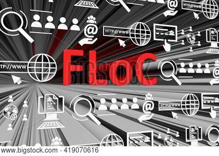 Floc Concept Blurred Background 3d Render Illustration