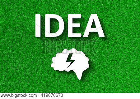 Idea Green Grass Meadow Background 3d Illustration
