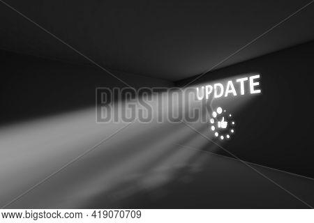 Update Rays Volume Light Concept 3d Illustration