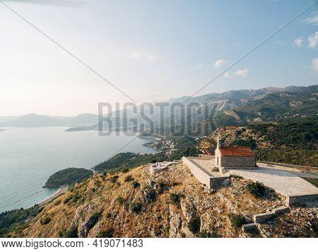 Chirch Sveti Savva Near Island Sveti Stefan.